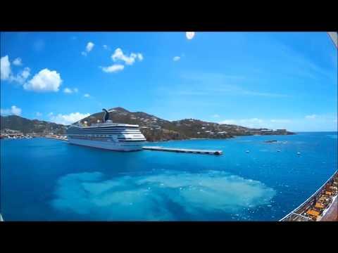 MSC Seaside docking at St Thomas, U.S. Virgin Islands