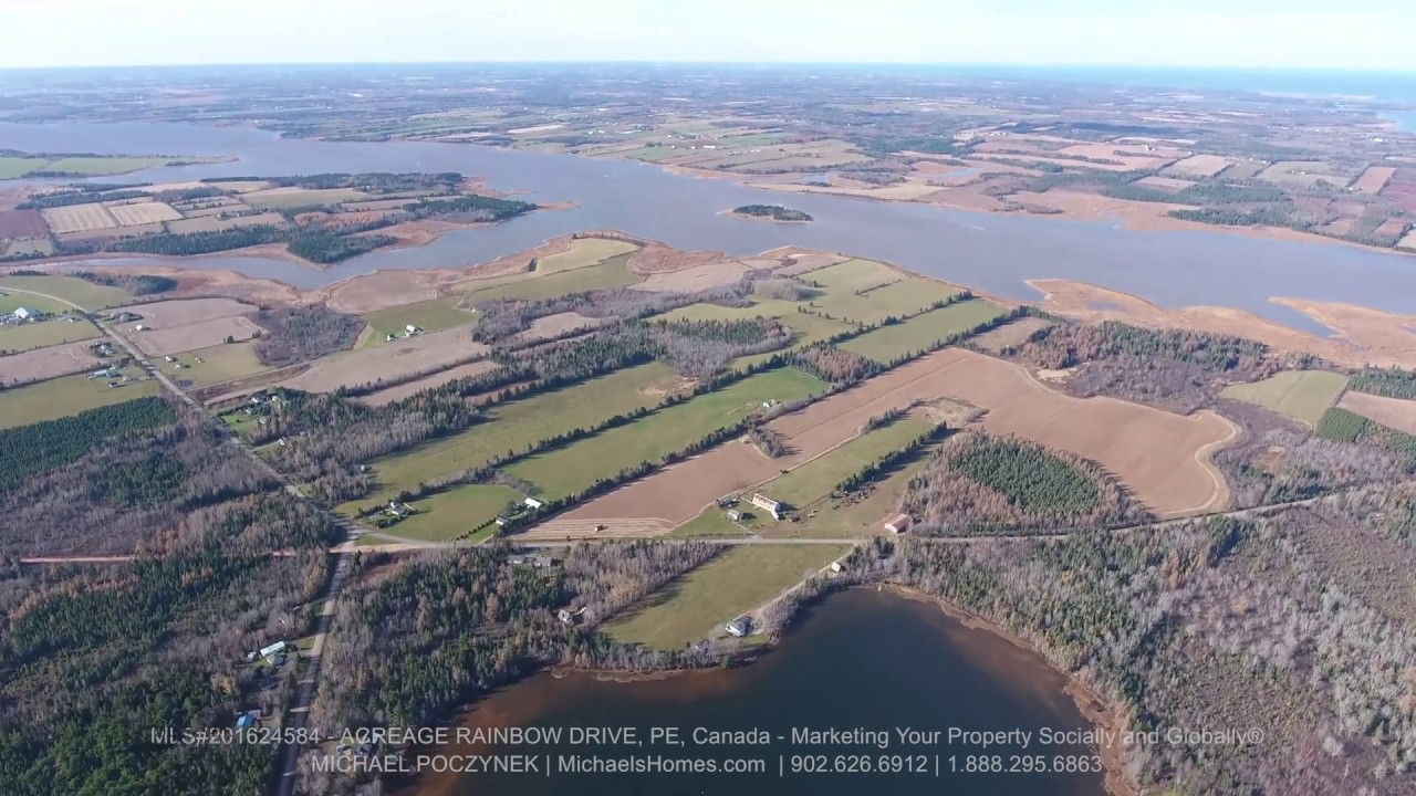 Tarantum Eastern PEI Waterfront Land for Sale Acreage Rainbow Drive near  Charlottetown