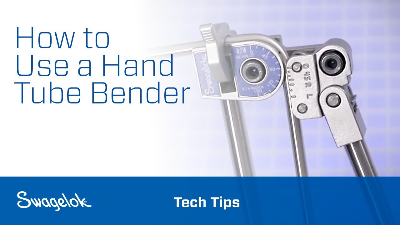Using A Hand Tube Bender Youtube