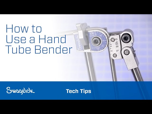 Using a Hand Tube Bender - YouTube