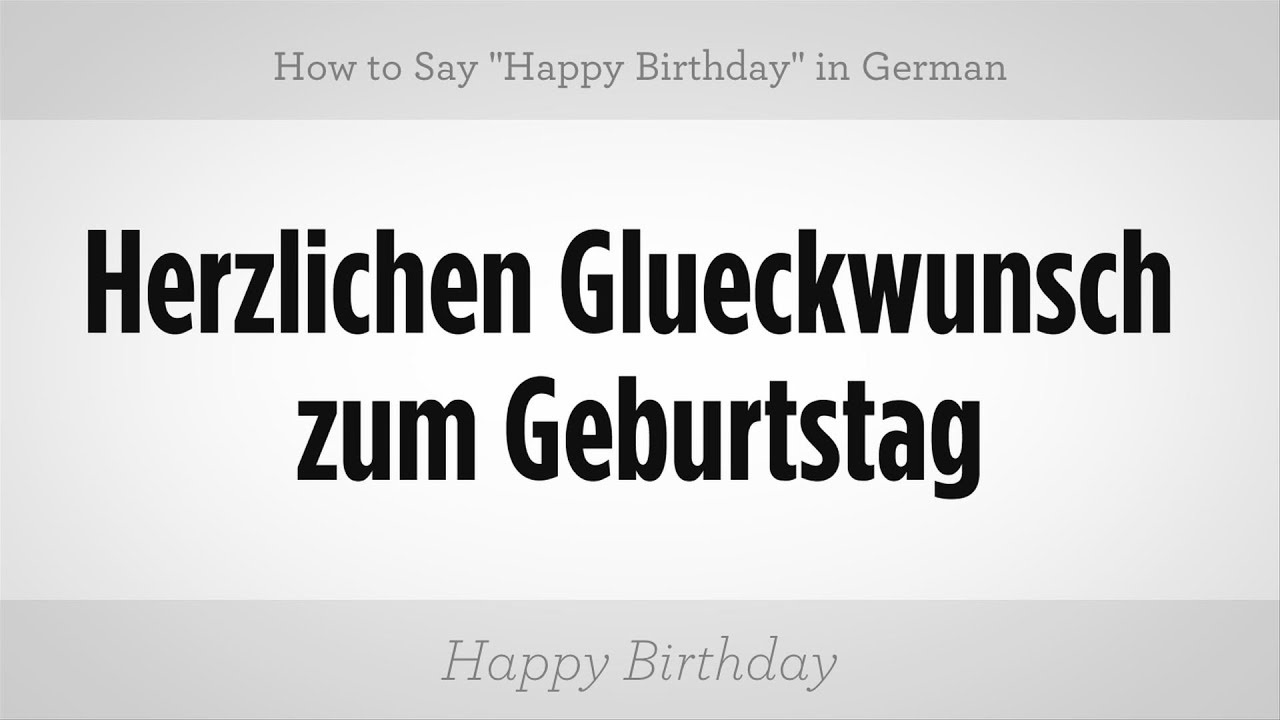 how to say happy birthday in german german lessons youtube