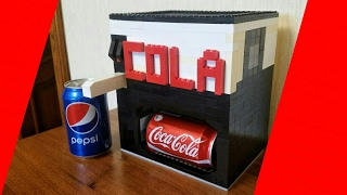 автомат для ПРОДАЖИ Кока-Колы Из Лего! (автоматический)  Lego Coca Cola Machine