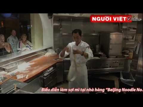 Biểu diễn làm sợi mì tại nhà hàng Beijing Noodle No. 9 -- Caesars Palace