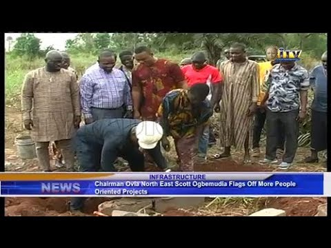 Ovia North East council boss flags off more people oriented projects