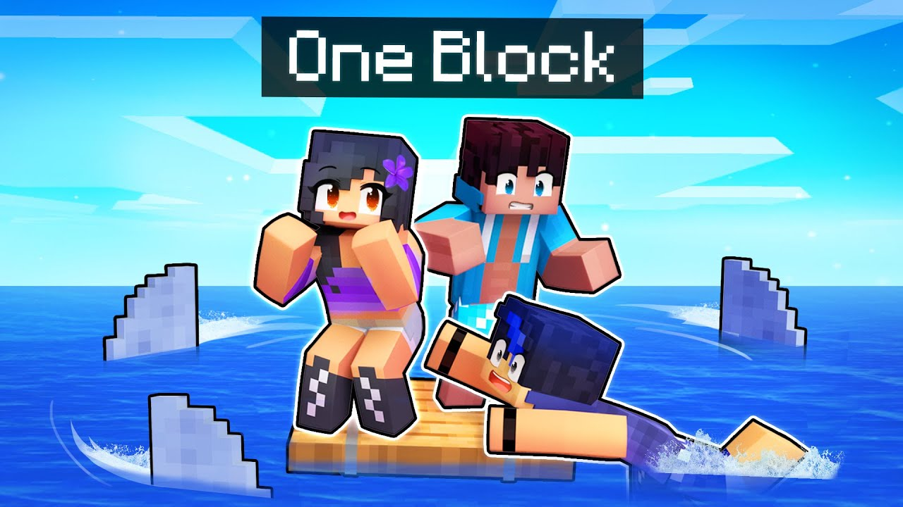 Minecraft RAFT But There IS ONLY ONE BLOCK!
