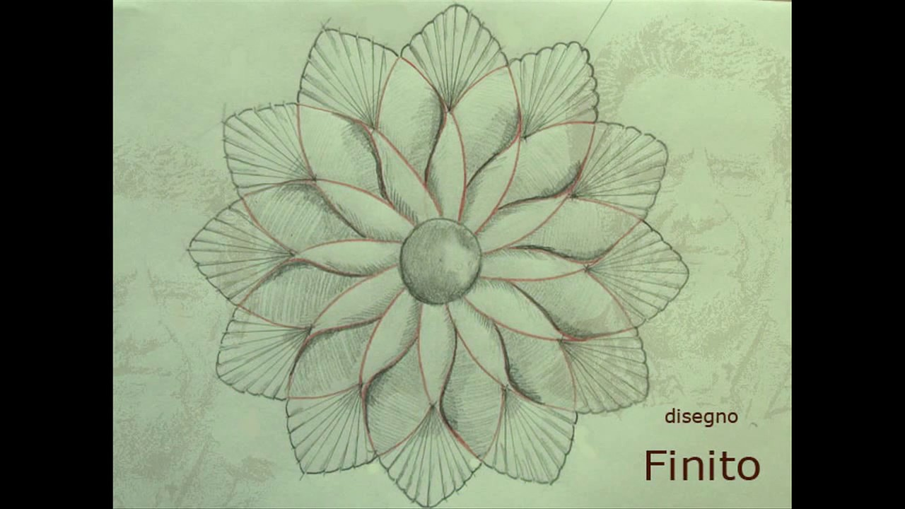 """Popolare Disegno per l'esercizio d'intaglio 004 - """"Fiore geometrico  ZY14"""