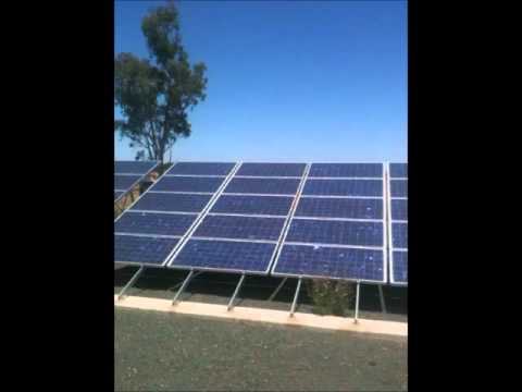10kw Ground Mount Solar System Victoria.wmv