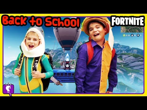 FORTNITE KIDS Back to School Mystery Boxes of Supplies - Who Gets What? by HobbyKidsTV