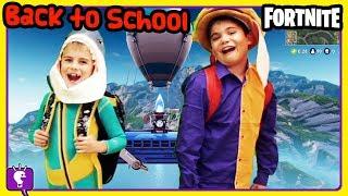 FORTNITE KIDS Retour à l'école Mystery Boxes of Supplies - Who Gets What? par HobbyKidsTV