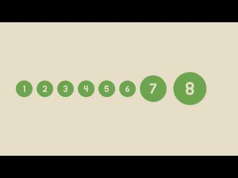 Números de 1 a 10 - Método Montessoriano - Link na descrição
