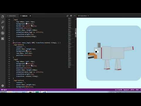 Maincraft Wolf In 2D With CSS/HTML    Qzcat Tutorials