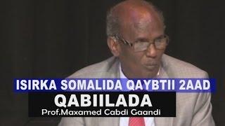ISIRKA SOMALIDA PART 2 - QABIILADA- Prof. Maxamed Cabdi Gaandi