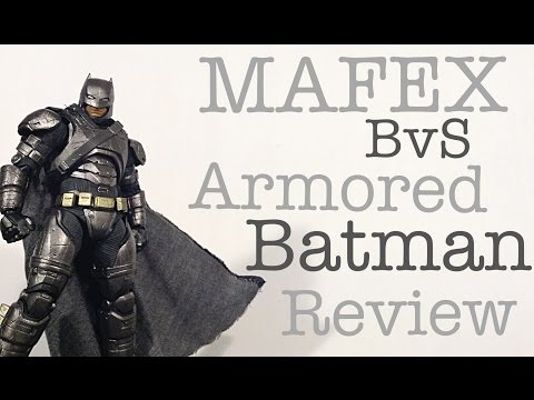MAFEX Medicom Batman V Superman Dawn of Justice ARMORED BATMAN Action Figure Review Toy Review