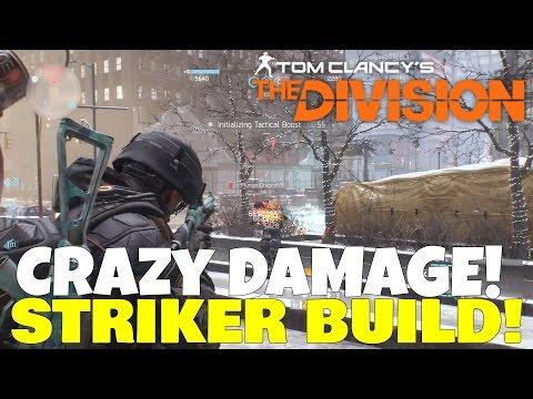 The Division: BEST STRIKER + SHOTGUN BUILD! CRAZY Damage in PVE & PVP!
