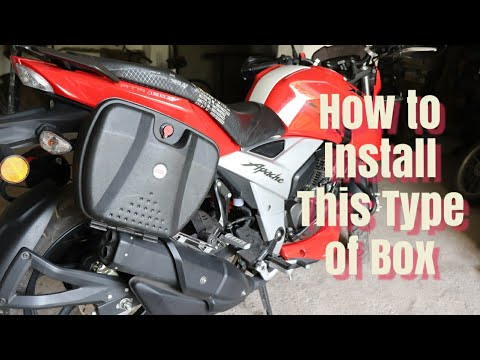 Best Luggage Box for TVS Apache 160 4v & Small Gift from wisholize