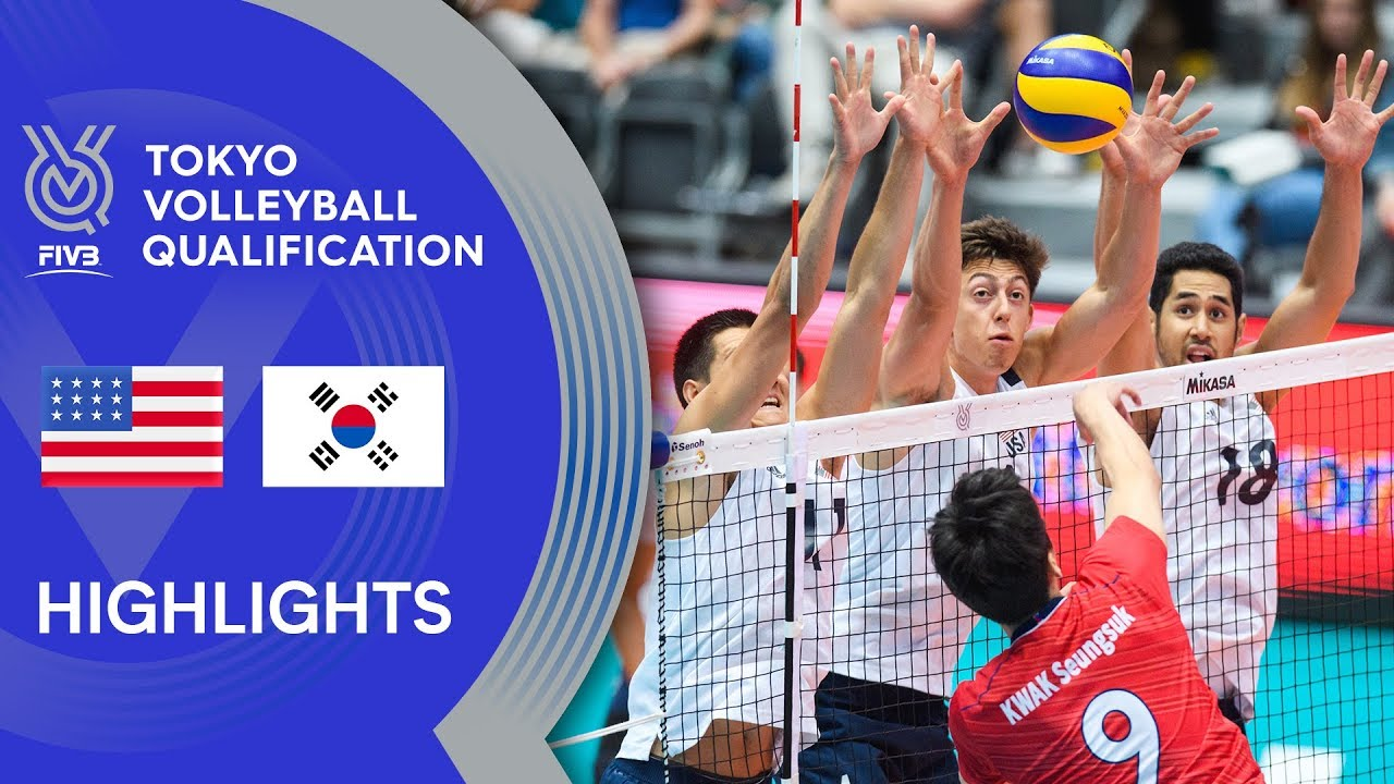 Usa Vs Korea Highlights Men Volleyball Olympic Qualification 2019 Youtube
