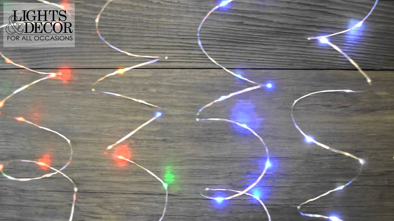 LED Twinkle Fairy Lights with Timer - YouTube