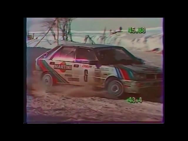 Miki Biasion - Tiziano Siviero Rally Monte Carlo 1987