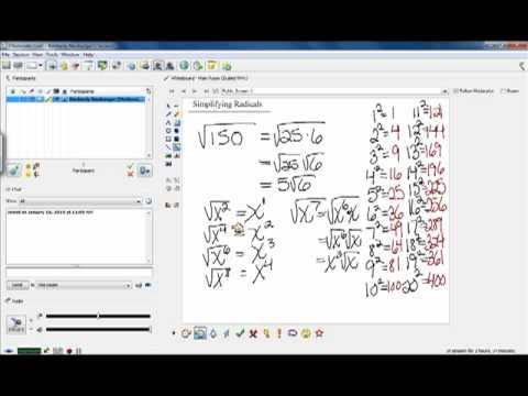 Math65-Simplifying Radicals