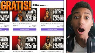 BUY a FORTNITE ACCOUNT on a FREE GENERATORE!! [epic]