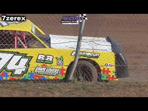 IMCA Stock Cars Heat 1 Canyon Speedway Park 1-26-2020