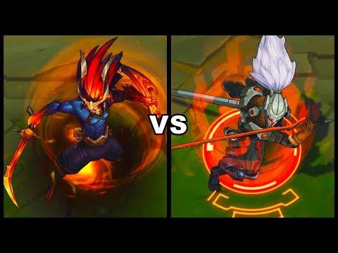 Nightbringer Yasuo Vs PROJECT: Yasuo Legendary Vs Epic Skins Comparison (League Of Legends)