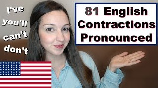 How to Pronounce Contractions: 81 Contractions in American English