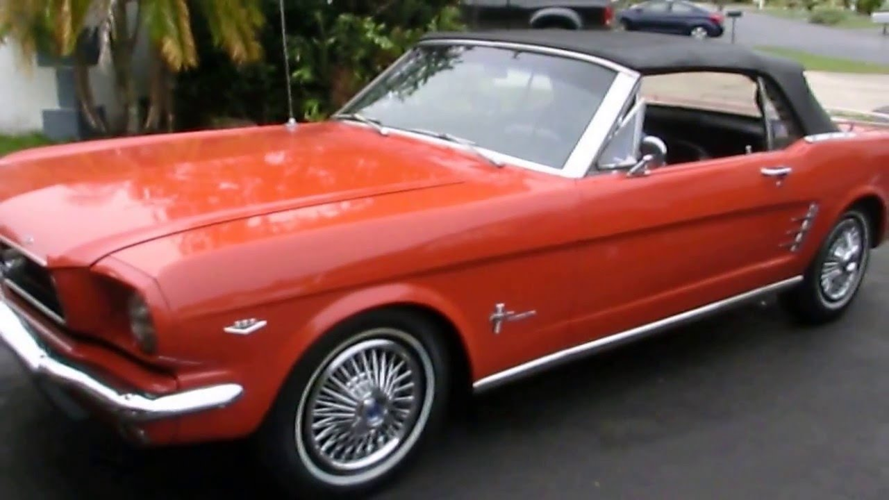 1966 ford mustang convertible red