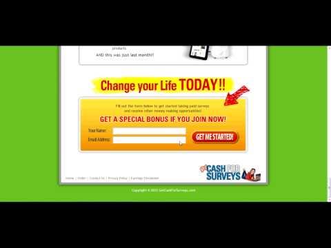 Get cash for surveys Review! Make easy money online! Take surveys