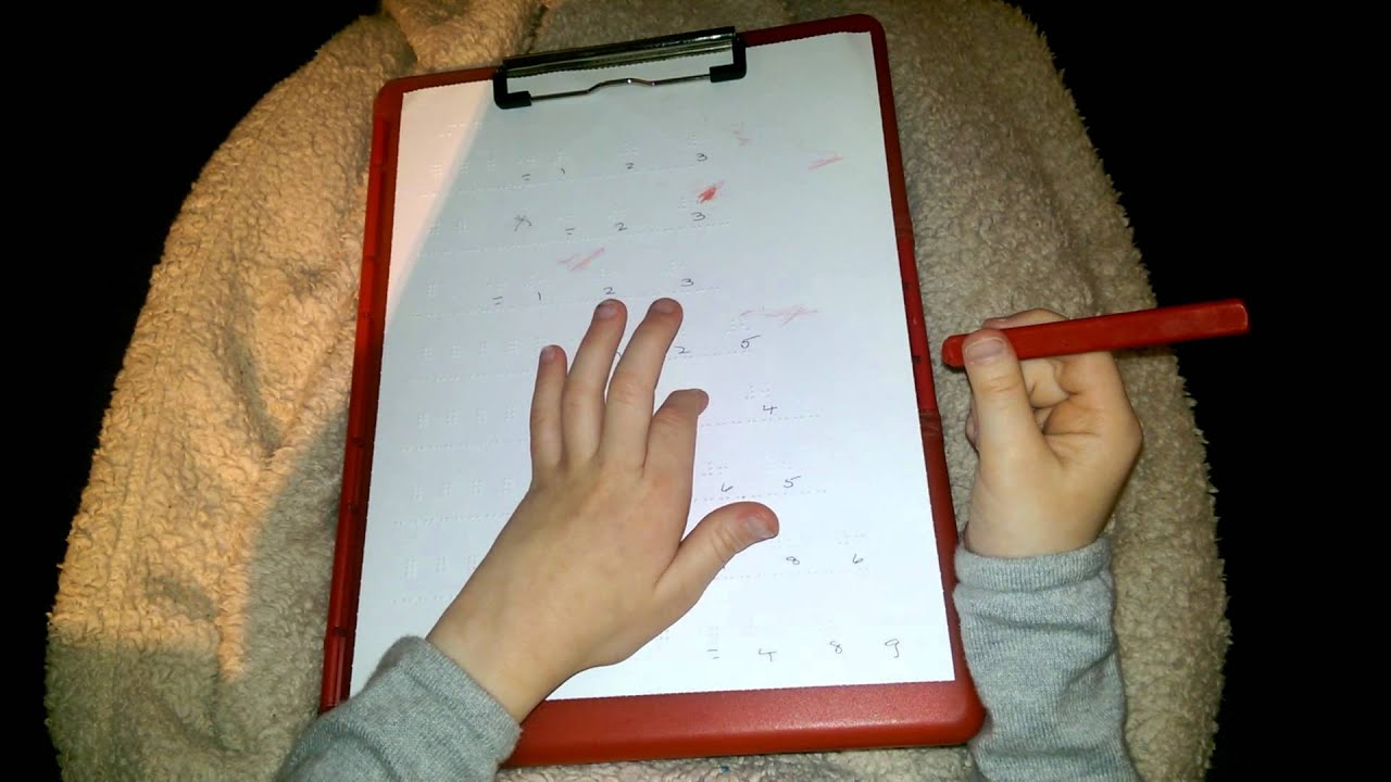 Madilyn Working on a Braille Math Worksheet - YouTube