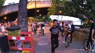 Street Fighting - Cyclist Vs Pedestrian
