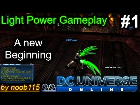 DC Universe Online: Gameplay! Creating a new Light Power Hero!