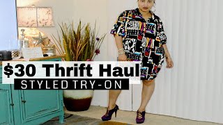 TRY ON $30 Thrift Haul LookBook | Salvation Army & Goodwill