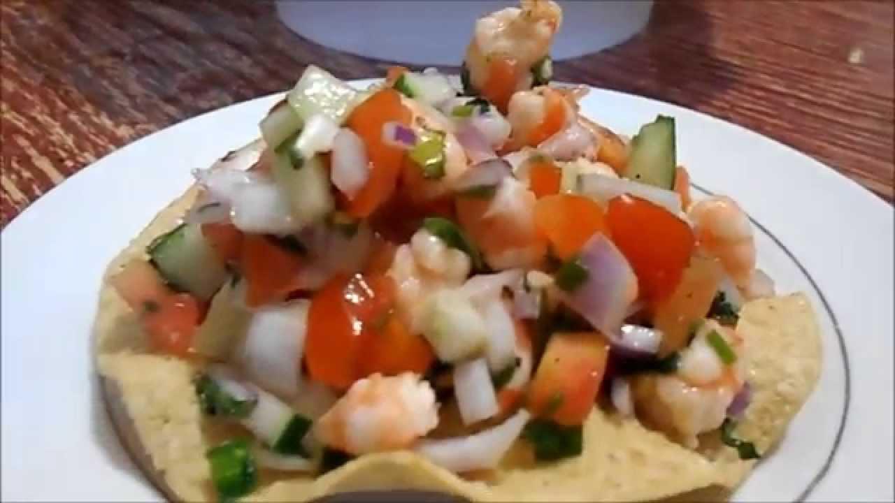 Ceviche de camaron cocina practica youtube for Cocina practica