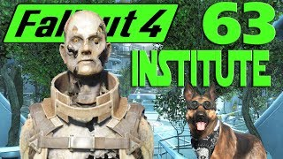 Let's Play Fallout 4 no mods ep 63 - Institute Inside Many Droids.
