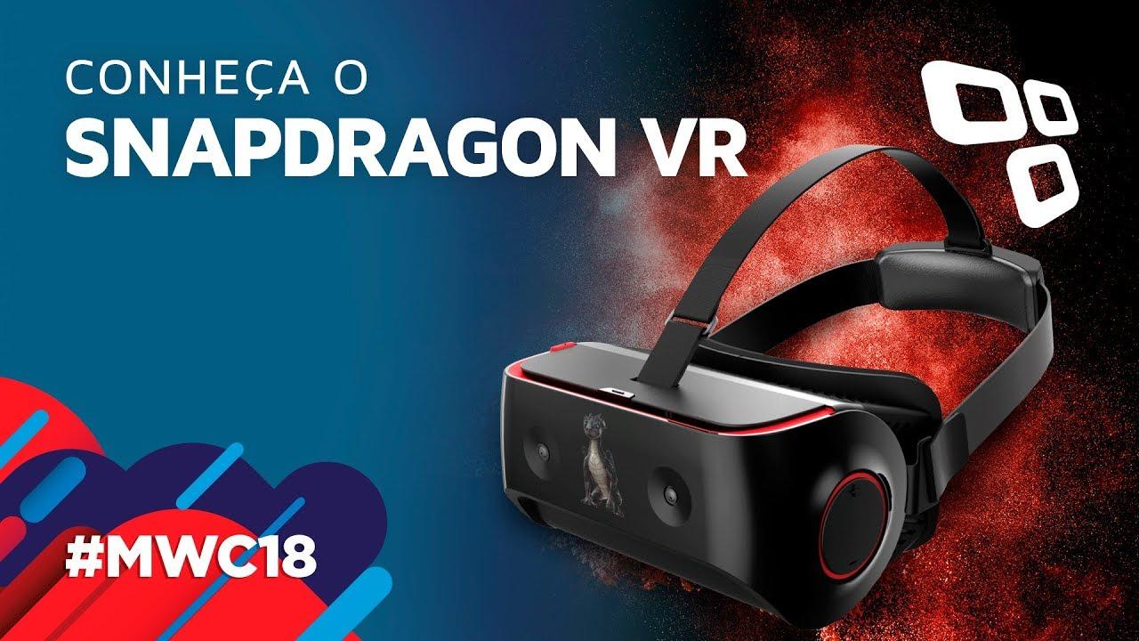 9ff3b2c1e6af8 Testamos o óculos de realidade virtual da Qualcomm - TecMundo  MWC 2018