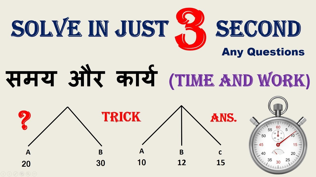 coolmaths | maths tricks in hindi | time and work ( समय और ...