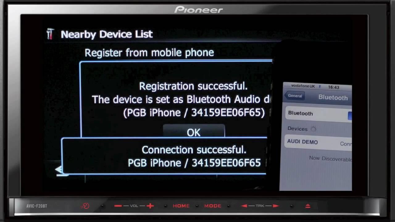 Pioneer AVIC-F20BT GPS Navigation Driver