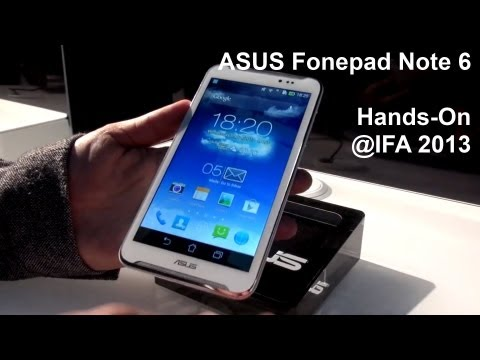 ASUS Fonepad Note 6 - Hands-On - IFA 2013 - androidnext.de