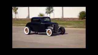 1932 Ford 3 Window Coupe with Sidepipes