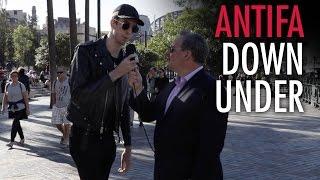 Ezra Levant vs. Antifa activist in Australia! (UPDATED)