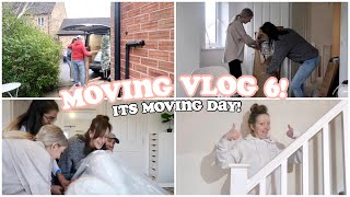 MOVING VLOG 6! Moving into our NEW home! MOVING DAY!