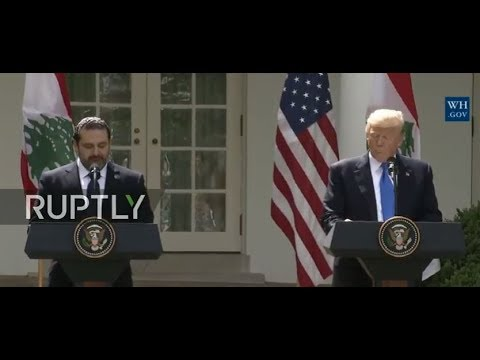 LIVE: Trump meets Lebanese PM Hariri in Washington: joint press conference