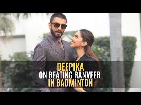 Deepika Padukone on beating Ranveer Singh in badminton | SpotboyE Mp3