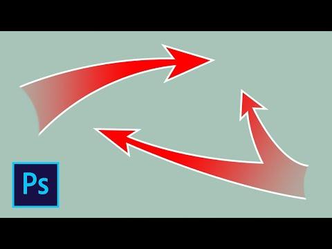 Как сделать изогнутую стрелку в фотошопе