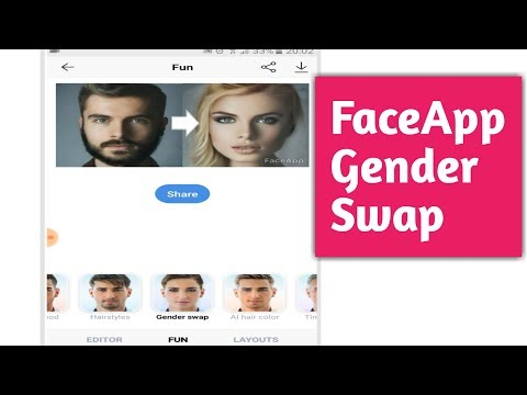 How to use Faceapp Gender Swap - YouTube