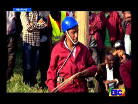 Very Funny: Ethiopian Artists Climbing a Pole