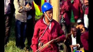 ETHIOPIA Easter Special Program - Funny Electric pole Clamping Competition