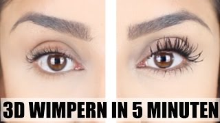 3D WIMPERN (IM TEST) IN 5 MINUTEN I OHNE KLEBEN