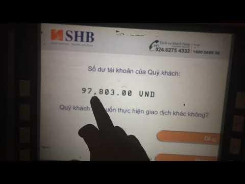 Thẻ ATM Bidv Rút Tiền | Chuyển Khoản | Xem Số Dư Tại ATM Shb